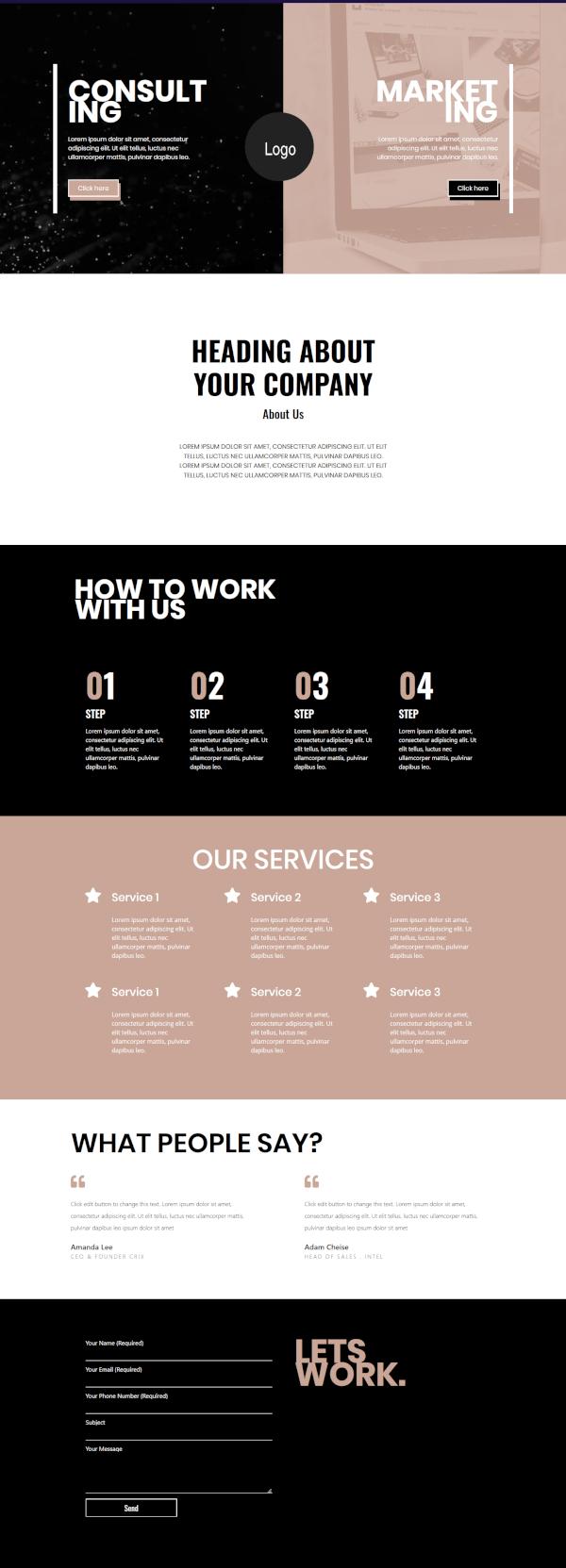 Elementor marketing agency template