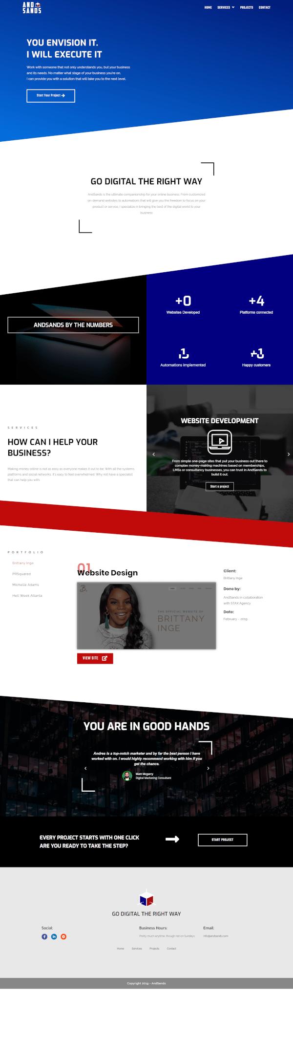 Elementor digital agency template