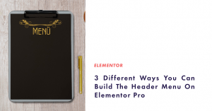 header menu on elementor pro